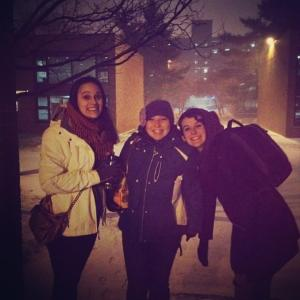 11/23/13 Snow with Grace and Kelly!
